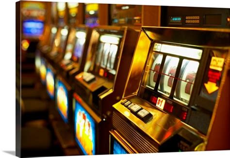 row  slot machines photo canvas print great big canvas