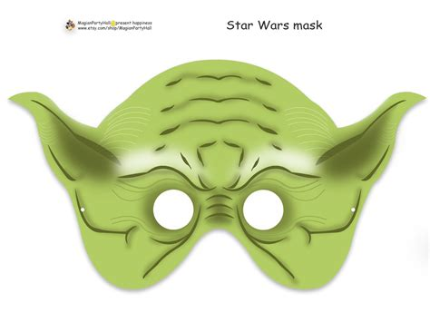 printable star wars yoda a yoda mask 2 would absolutely be the hit of the photo