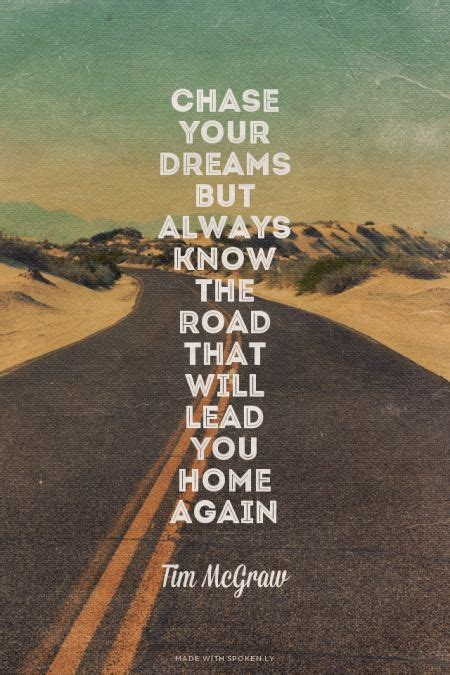 chase  dreams     road   lead
