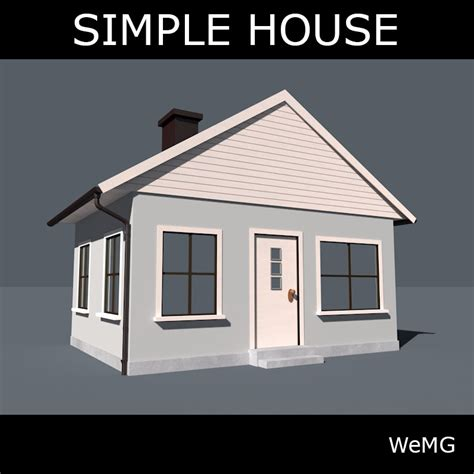 Model Simple Simple House 3d Model