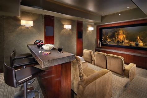 contemporary media room design ideas