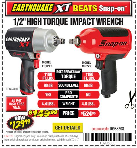 earthquake xt harbor freight tools quality tools at discount prices