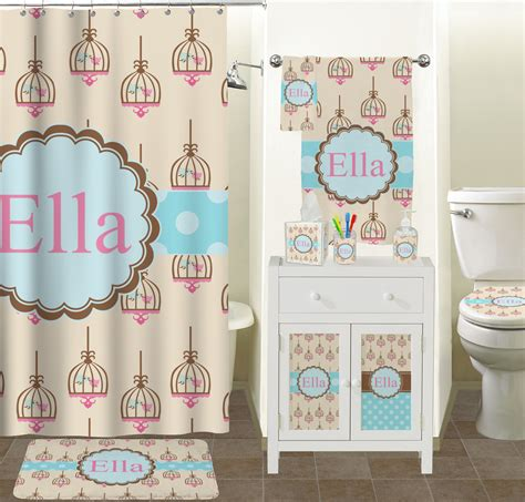 kiss bathroom kissing birds shower curtain personalized you customize it
