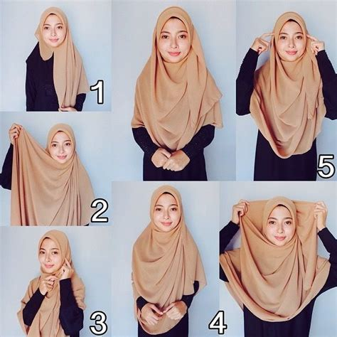 tutorial hijab bawal simple 1554 best hijab tutorial images on pinterest hijab
