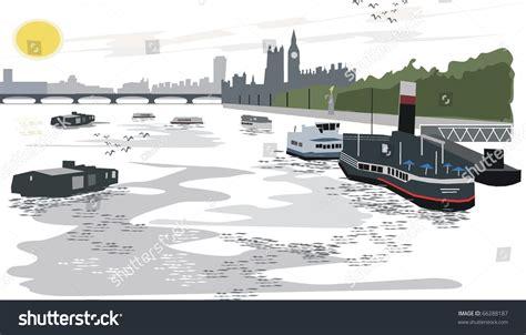 thames river vector vector illustration of thames river london 66288187