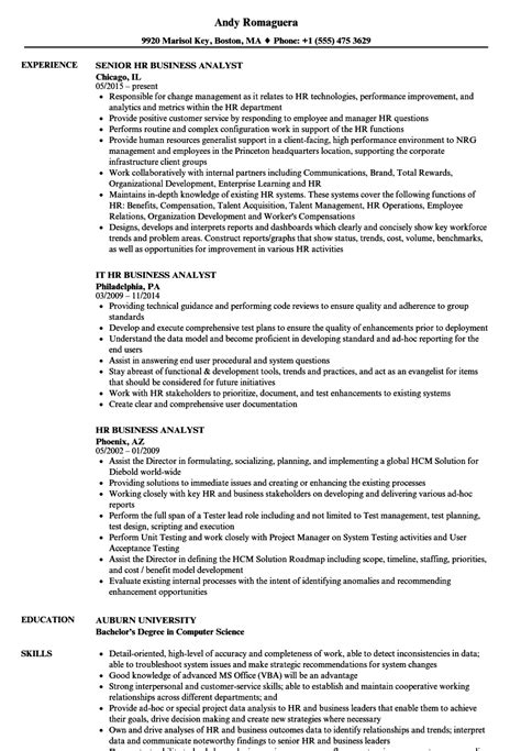 business analyst resume sles exles business analyst resume sle gallery cv