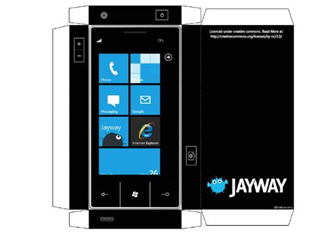 How To Make A Phone Out Of Paper - make your own cutout windows phone 7 prototype feel like