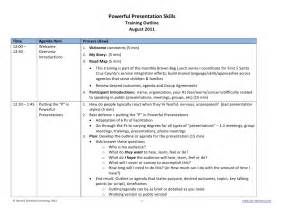 Outline Exle For Presentation by Powerful Presentation Skills Outline Exle