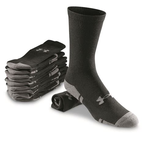 armour resistor crew socks armour resistor 3 0 crew socks 6 pairs 664424 socks at sportsman s guide