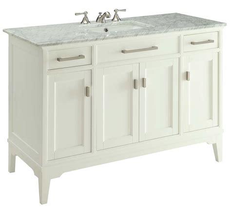 shaker style bathroom vanities 49 inch bathroom vanity transitional shaker style white