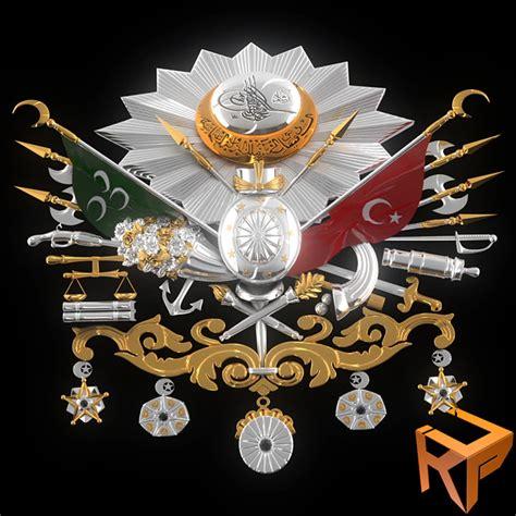 ottoman emblem 3d model ottoman empire emblem