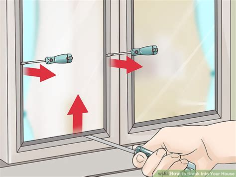 how to break a house window 5 ways to break into your house wikihow