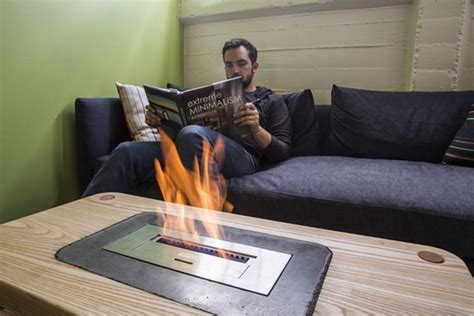 cool stuff for living room diy fireplace coffee table keeps your living room toasty