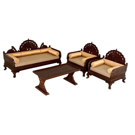 deewan sofa designs rc 1 3 pcs maharaja set fine carved art asia imports