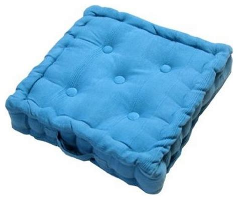modern floor cushions rajput ribbed cotton floor cushion blue modern