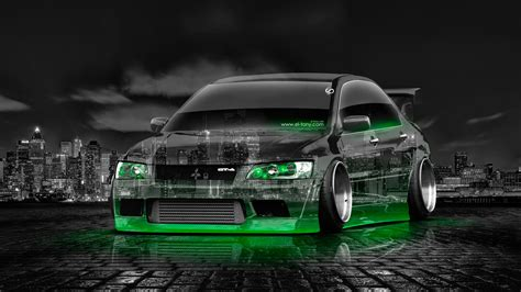 green mitsubishi lancer mitsubishi lancer evolution jdm tuning crystal city car