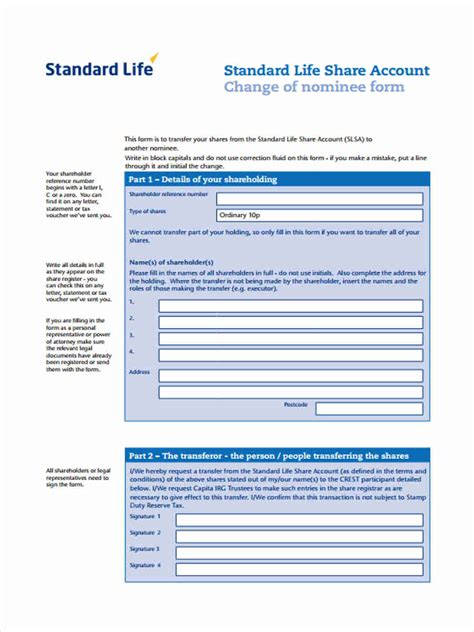 standard biography format standard transfer forms 7 free documents in word pdf
