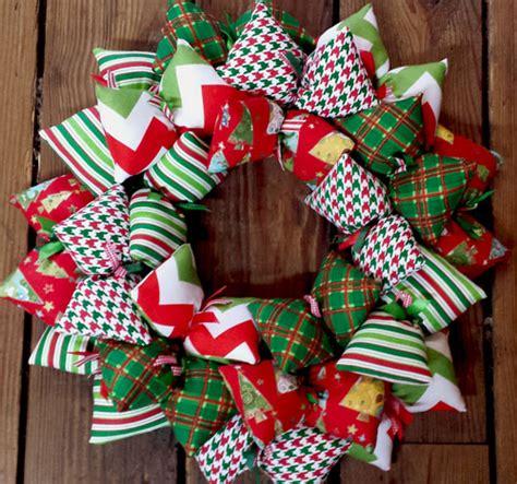 pattern for fabric wreath christmas patterns holiday handmade fabric wreath sooboo