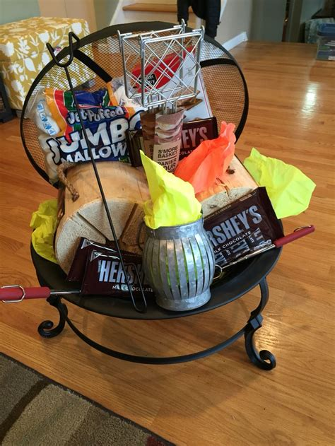 fireplace gift baskets our pit auction basket auction baskets