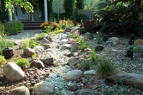 creek and gravel garden flowers gardening and