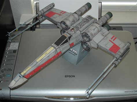X Wing Papercraft - wars incom t 65 x wing starfighter papermodeler