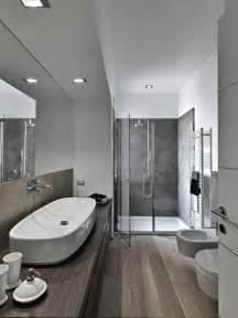 35 master bathrooms with wood floors pictures modern