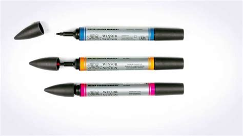 Pigment Marker Paper Size A5 Winsor Newton 791494 winsor and newton water colour marker lemon yellow hue
