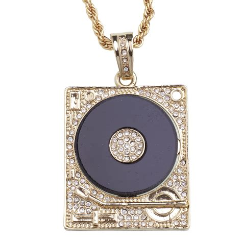 b2bling shop iced out bling pendant dj turntable