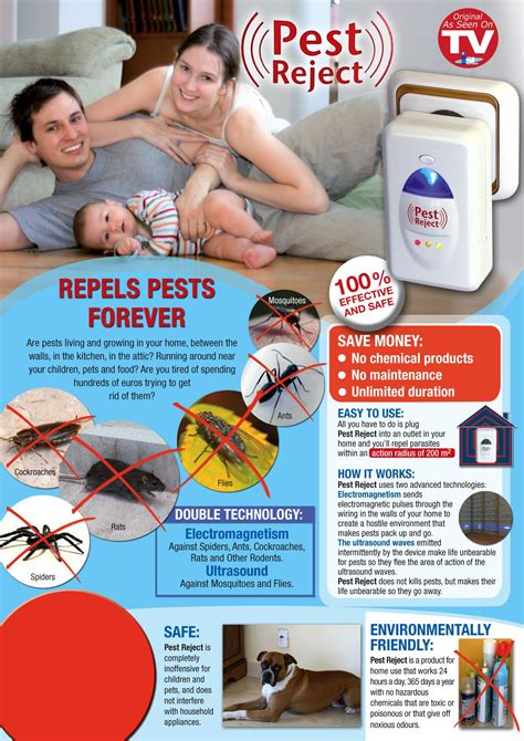 Jual Pest Reject Original by Pest Reject Ultrasound Electromagnetic Pest Repellent 2