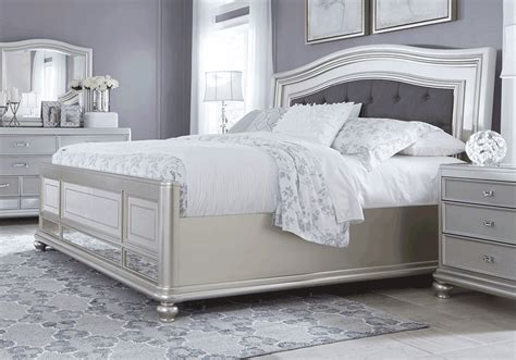 Coralayne Silver Bedroom Set by Coralayne King Bed Louisville Overstock Warehouse