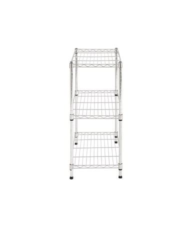 sandusky ws241430 sandusky lee 3 tier chrome light duty wire shelving