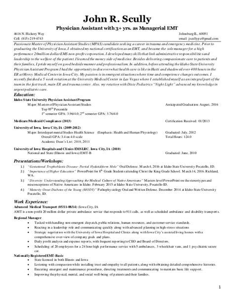 Emergency Medicine Resume