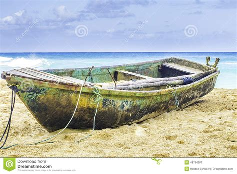 old boat on beach old boat on a beach stock photo image 48794207