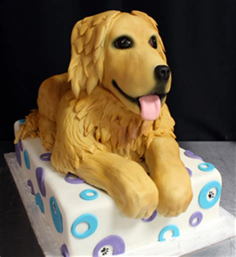 golden retriever cake sculpted golden retriever cake flickr photo