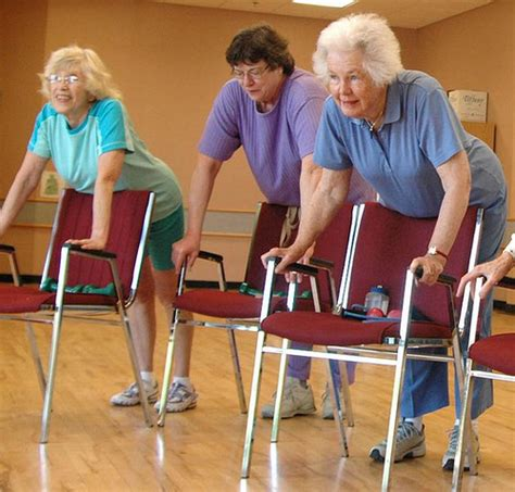 using chair exercises for seniors to get into peak shape