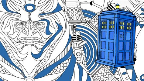 dr who coloring book get ready for the doctor who colouring book app