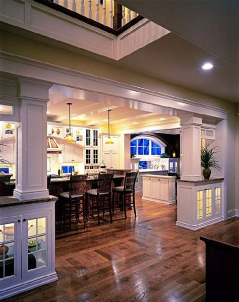 Open Kitchen With Columns by Open But Defined Home Furnishing Crafts