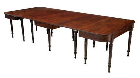 american classical three part dining table 120 quot l