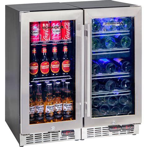 under bench bar fridge glass door beer and wine 3 zone indoor quiet bar fridge