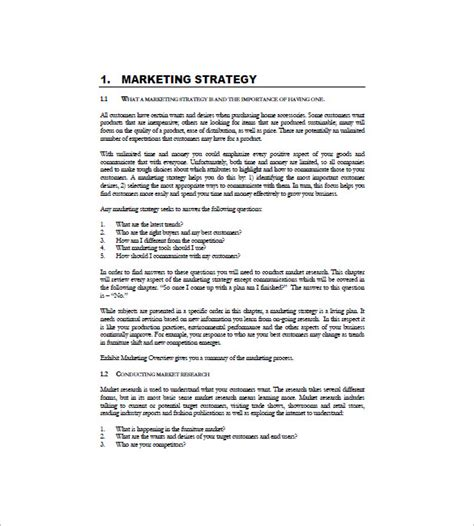 marketing business plan template international marketing plan template 8 free word