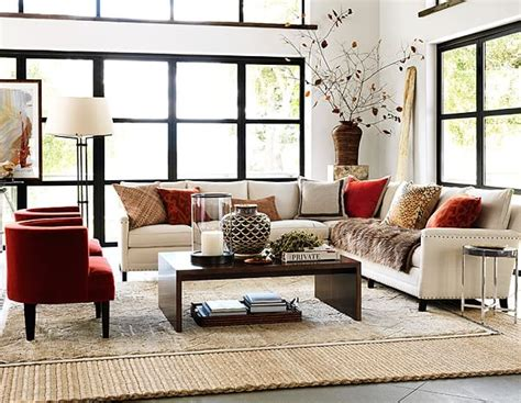 rustic modern living room decor williams sonoma