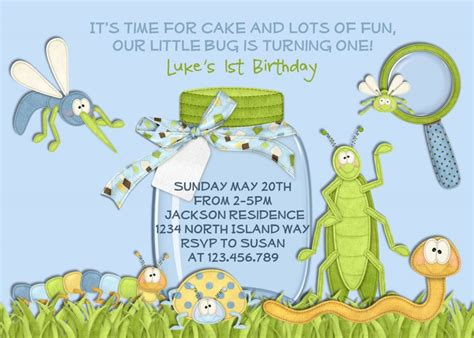 Bug Birthday Party Supplies Bug Birthday Party Invitations Templates Graysons 1st Birthday Bug Invitation Template