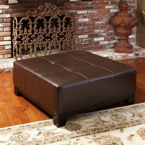 chocolate leather ottoman avalon chocolate brown leather ottoman great deal furniture