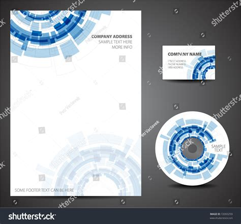 cd card template design template set business card cd stock vector 72093259