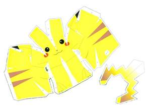 anime papercraft templates pikachu alternative versions