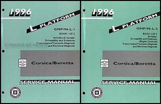 car maintenance manuals 1996 chevrolet corsica navigation system 1996 chevrolet corsica beretta repair shop manual original 2 volume set