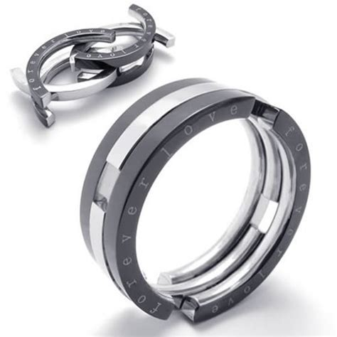 8 Awesome Ways To Ring In The New Year by Konov Jewelry Transformable Unisex Stainless Steel Band