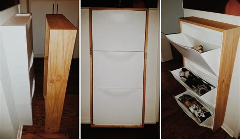 Wood Bathroom Ideas by How To Use Ikea Products To Build Shoe Storage Systems