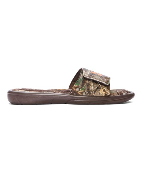 mens camo sandals s armour ignite camo slide sandals ebay