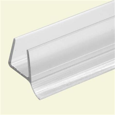Frameless Shower Door Gasket Prime Line 3 8 In X 36 In Clear Frameless Shower Door Bottom Seal M 6264 1 The Home Depot